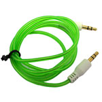 3.5mm Stereo Audio Auxiliary AUX Cable for iPhone 4 MP3 Round Green