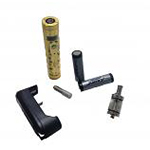K200+ Electronic Vaporiser Kit with Two 2000mAh Batteries in Gold
