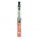 Ego-D Electronic Vaporiser 650mAh in Red Flower Design