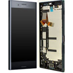Genuine Sony Xperia XZ Premium (G8141) Lcd with touchpad and frame in Black - P/N: 1307-9860