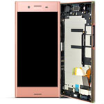 Genuine Sony Xperia XZ Premium (G8141) Lcd with touchpad and frame in Pink - P/N: 1307-9873
