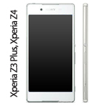 Genuine Sony Xperia Z3 Plus, Xperia Z4, Sony E6553 Complete lcd and touchpad with frame in White - Part number 1293-1497.1