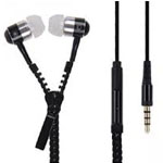Zipper Earphones in Black