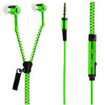 Zipper Earphones in Green