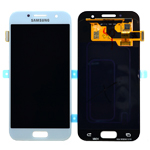 Genuine Samsung Galaxy A3 2017 (SM-A320F) Complete Display Lcd with Touchscreen in Blue - Samsung part no : GH97-19732C