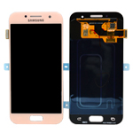 Genuine Samsung Galaxy A3 2017 (SM-A320F) Complete Display Lcd with Touchscreen in Rose - Samsung part no : GH97-19732D