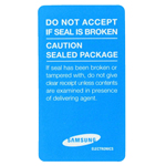 Samsung Void Box Sticker Seal in Blue- Samsung part no: GH68-42602A