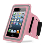 Latest Velcro Sports Armband for New iPhone SE in Pink - fits the iPhone SE, iPhone 5S and iPhone 5