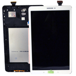 Genuine Samsung SM-T560 Galaxy Tab E Complete Lcd with Touchscreen in White-Samsung part no: GH97-17525B