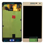 Genuine Samsung SM-A500F Galaxy A5 Complete Display Lcd with Touchpad in Gold-Samsung part no: GH97-16679F