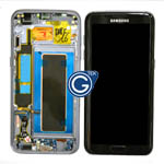 Genuine Samsung Galaxy S7 Edge (SM-G935F) Complete lcd and touchpad with frame in Black - Part no: GH97-18533A