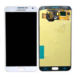 Genuine Samsung SM-E700 Galaxy E7 Complete Lcd with Digitizer Touchscreen in White-Samsung part no: GH97-17227A