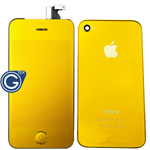 iPhone 4 LCD and Digitizer in Bullion Gold with Battery Cover and Home Button (High Quality)
