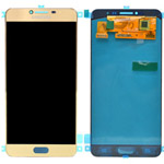 Genuine Samsung Galaxy C7 Lcd and touchpad in Gold - GH97-19135A