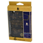 Blue Jeans Case for iPhone 4/4S in Dark Blue with Number Patterns (in Retail Packaging)