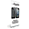 Pull Up Banner Stand for Shop Display Showing Before and after Cracked Screen & Apple Repairs, Accessories & Unlocking  - Shipped to UK Only