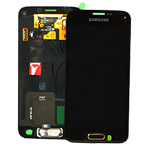 Genuine S5 Mini SM-G800F Lcd and digitizer in Gold - Part no: GH97-16147D