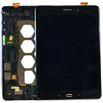 Genuine Samsung SM-T550 Galaxy Tab A 9.7 Black SVC LCD ASSY-OC 10036 Complete with Frame and Touchpad- Samsung part no: GH97-17400D