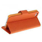 Fuera Iphone 5 Orange Leather Case in Retail Packaging (minimum order 2 pcs)
