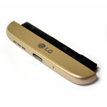 Genuine LG H850 G5  Loudspeaker, Mic, Charging Port Housing Bottom Cover Module in Gold- LG part no: ACQ88888084 (Grade A)