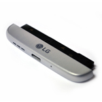 Genuine LG H850 G5 Loudspeaker, Mic, Charging Port Housing Bottom Cover Module in Silver- LG part no: ACQ88888081 (Grade A)