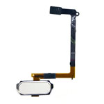 Genuine Samsung SM-G920F Galaxy S6 Home Button Flex-Cable Complete in White-Samsung part no: GH96-08166A (Grade A)