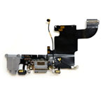 Genuine Apple Iphone 6s Charging Connector Flex-Cable with Audio Connector Flex in Dark Grey/Black (Grade A)