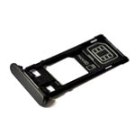 Genuine Sony Xperia X (F5121) Sim / SD Card Tray in Black-Sony part no:1302-4830