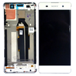 Genuine Sony Xperia XA (F3111), Sony Xperia XA Dual (F3112) Complete Lcd with Digitizer in White- Sony part no: 78PA3100030