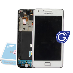 Genuine Samsung I9100 Galaxy S2 MEA FRONT-OCTA LCD ASSY(-CA) CERAMIC WHITE,  PART NO: GH97-12712A