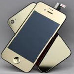 iPhone 4S Complete LCD with Battery Cover Metallic Gold