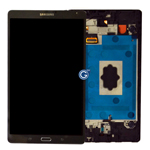 Genuine Samsung SM-T700 Galaxy Tab S Complete Lcd with Digitizer Touchpad in Charcoal Grey-Samsung part no: GH97-16047B