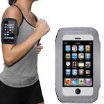Latest Velcro Sports Armband for New iPhone SE in luxury Grey - fits the iPhone SE, iPhone 5S and iPhone 5