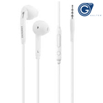 Genuine Samsung EO-EG920BW Galaxy S6 3.5 mm Jack In Ear Handsfree Stereo Headphones with Remote and Microphone - White With Jewel Cae