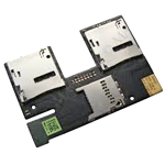 Original HTC Desire 300/500 - Sim/Memory Card Reader Flex - P/N:51H20565-01M - Memory-Cardreader Flat-Cable, Flexcable