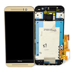 Genuine HTC One (M9) Complete Front Lcd  with Digitizer Touchscreen in Gold-HTC part no: 80H01910-02