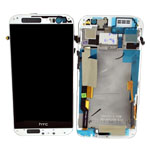 Genuine HTC One (M8) Complete Display Lcd with Touchscreen and Frame Assy in White-HTC part no: 80H01770-19;80H01757-19
