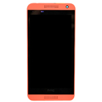 Genuine HTC Desire 610 Complete lcd and touchpad with frame assembly in Orange - HTC Part no: 80H01913-02