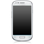 Genuine Samsung i8190 Galaxy S3 Mini Complete lcd and digitizer with frame in Ceramic White - GH97-14204A
