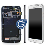 Genuine Samsung GT-i9205 Galaxy Mega 6.3 LTE Complete lcd with digitizer and frame in white - Part no: GH97-14751B