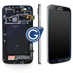 Samsung GT-i9205 Galaxy Mega 6.3 LTE Complete Lcd with digitizer touchpad and frame - Black Mist GH97-14751A