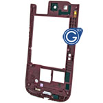 Samsung i9300 Rear Chassis with Camera Lens in Garnet Red