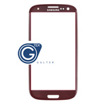 Samsung I9300 Galaxy S III Lens Glass with adhesive in Red