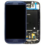 Samsung Galaxy S3 LTE I9305 Complete Lcd Screen with Digitizer and frame - GH97-14106D (pebble blue) - refurbished as new