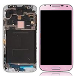 Genuine Samsung Galaxy S4 LTE / GT-I9505 Complete LCD Module with digitizer touchpad and frame in Pink - GH97-14655G