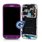 Genuine Samsung i9505 Galaxy S4 LTE Complete lcd and touchpad + frame in Purple - part no: GH97-14656D