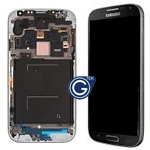 Genuine Samsung Galaxy S4 LTE i9505 Complete lcd and digitizer with frame in Dark Black - Samsung Part number: GH97-14655L