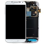 Genuine Samsung Galaxy S4 LTE PLUS i9506 Complete lcd with digitizer and frame in White - GH97-15202A