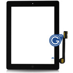 iPad 3/4 Digitizer touchscreen with parts in Black (home button and flex with adhesive & camera holder) by AG factory