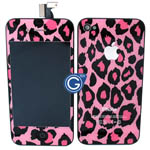 iPhone 4 Complete LCD Pink Leopard Design with back cover set